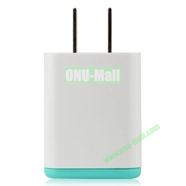 UME Travel Charger Adapter for iPhone 6  Samsung S5  HTC One 2 & M8  Sony Xperia Z2  Other Smart Phone (White+ Blue)