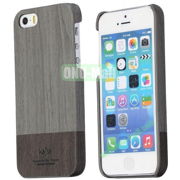 Kajsa Wooden Design PC Hard Back Case for iPhone 5  5S (Grey)