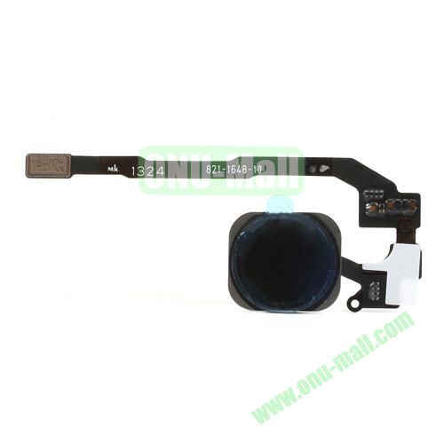 OEM Home Button with PCB Membrane Flex Cable for iPhone 5S (Black)