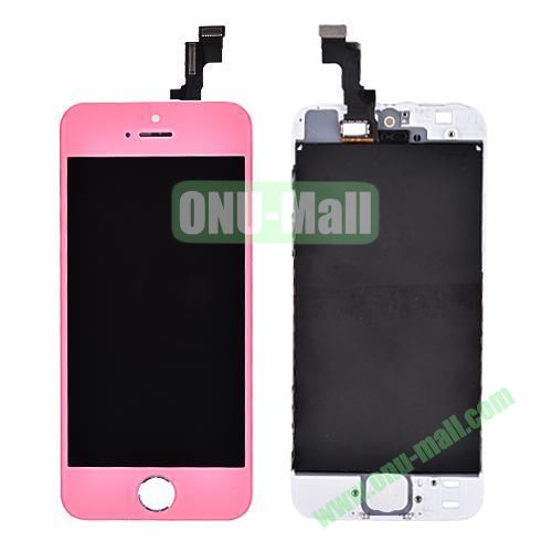 LCD Touch Screen Digitizer Replacement Spare Parts for iPhone 5S (Pink)
