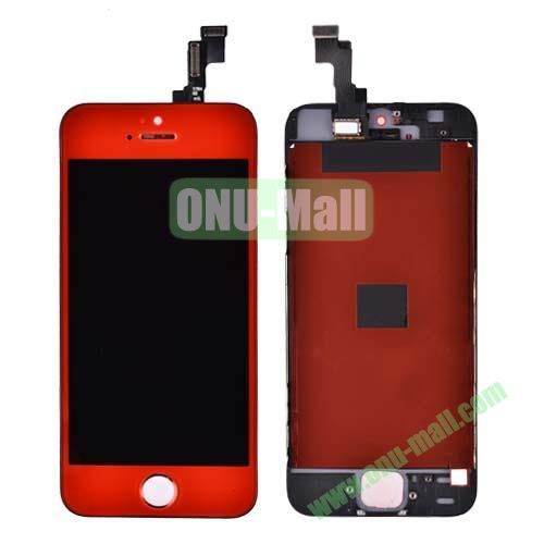 LCD Touch Screen Digitizer Replacement Spare Parts for iPhone 5S (Red)