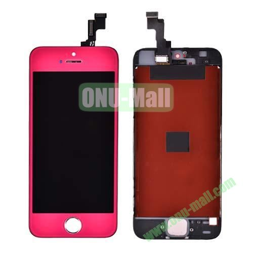 LCD Touch Screen Digitizer Replacement Spare Parts for iPhone 5S (Rose)