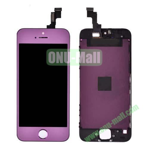 LCD Touch Screen Digitizer Replacement Spare Parts for iPhone 5S (Purple)