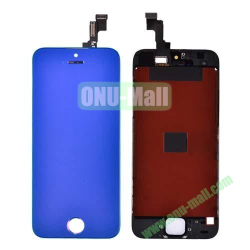 Electroplated Digitizer Touch Screen Replacement Parts for iPhone 5S (Blue)