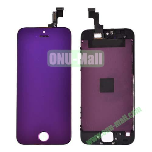 Electroplated Digitizer Touch Screen Replacement Parts for iPhone 5S (Purple)