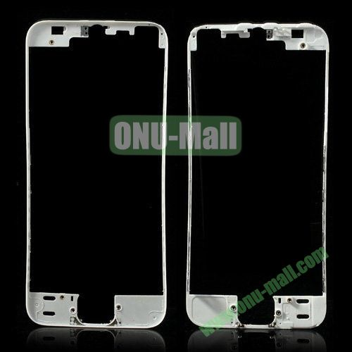 LCD Touch Screen Bezel Frame Replacement for iPhone 5S (White)