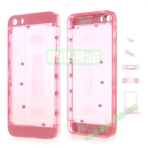 Plastic Full Housing Faceplates with Small Parts for iPhone 5S (Pink)