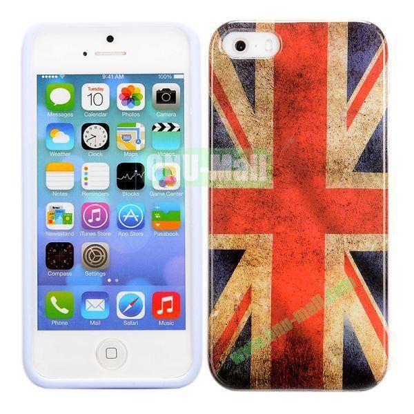 Retro UK Flag Pattern TPU Case for iPhone 5 5S
