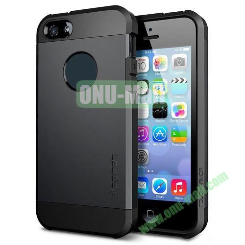 Hybrid Delicated PC+TPU Case For iPhone 5S 5 (Black)