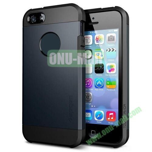 Hybrid Delicated PC+TPU Case For iPhone 5S 5 (Dark Blue+Black)