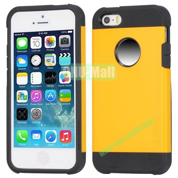 Hybrid Delicated PC+TPU Case For iPhone 5S 5 (Yellow+Black)