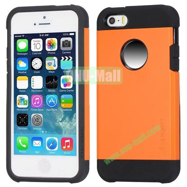 Hybrid Delicated PC+TPU Case For iPhone 5S 5 (Orange+Black)