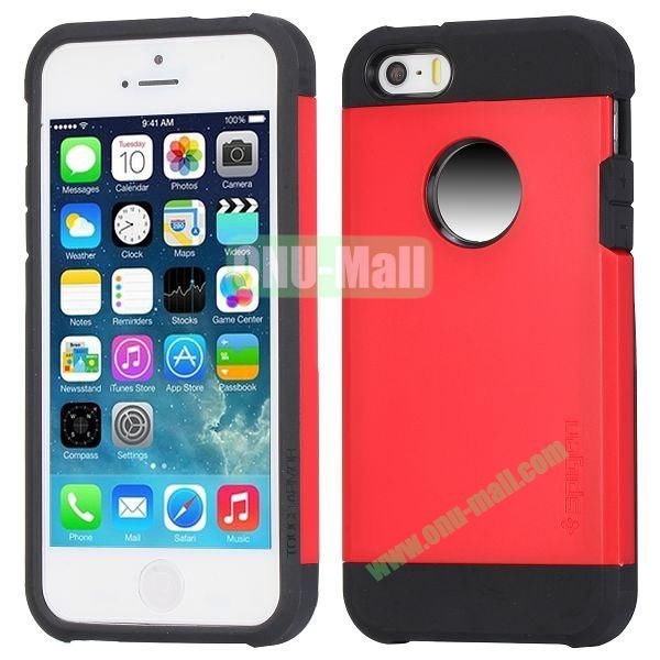 Hybrid Delicated PC+TPU Case For iPhone 5S 5 (Red+Black)