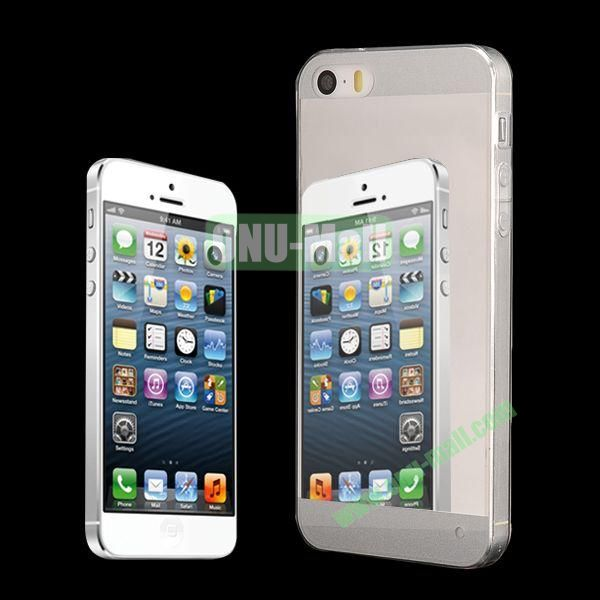 Ultra Thin Dual-color Mirror Style PC+TPU Hybrid Case for iPhone 5 5S (Silver)