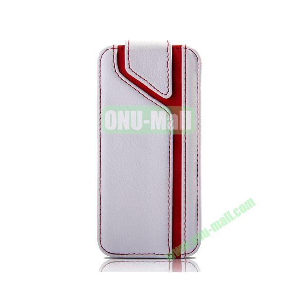 Joyroom Xiang Series Sport Style Vertical Flip Leather Case for iPhone 5 5S (White)