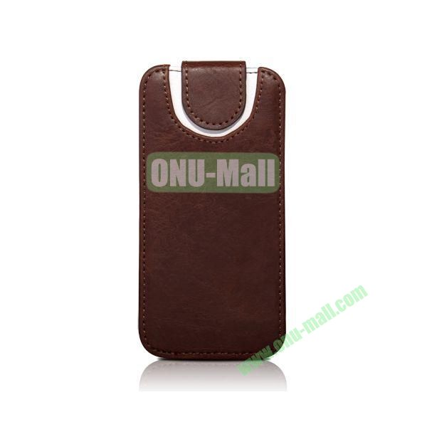 Fashion Joyroom Xiang Series Sport Style Vertical Flip Leather Case for iPhone 5 5s (Brown)