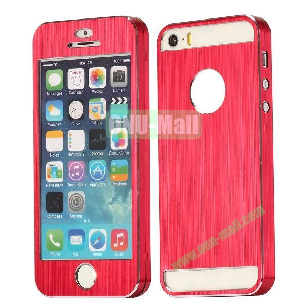 Detachable Front and Brushed Back Aluminium Hard Case for iPhone 55S (Red)
