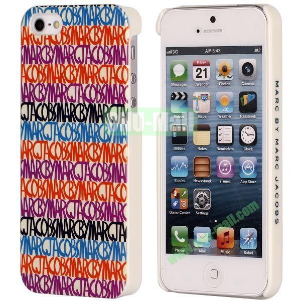 Colors Pattern Electroplated Hard Case for iPhone 5  5S
