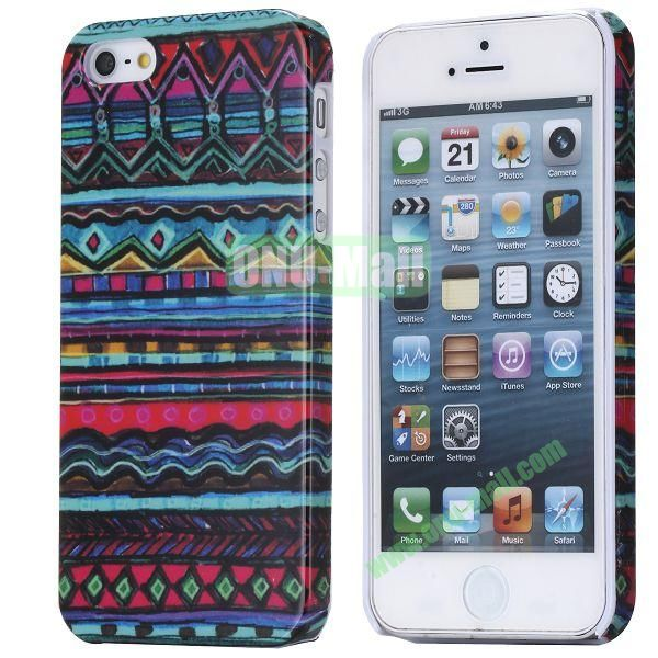 Colorful Tribe Style Pattern Hard Case for iPhone 5S  5
