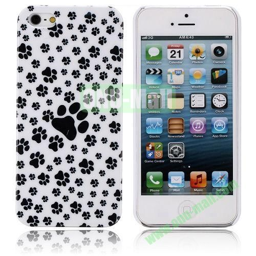 Puppy Footprint Pattern Hard Case for iPhone 5  5S