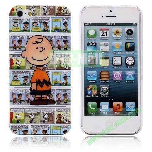 Cartoon Peanuts Charlie Brown Pattern Hard Case for iPhone 5  5S
