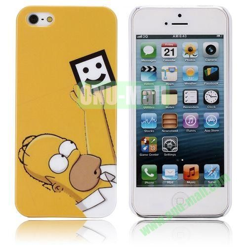 Famous Cartoon The Simpsons Pattern Hard Case for iPhone 5  5S