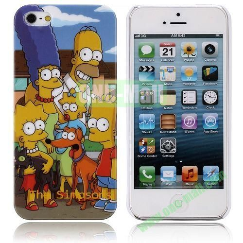 Cartoon Style The Simpsons Pattern Hard Case for iPhone 5  5S