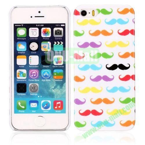Fashion Chaplin Mustache Pattern Hard Case for iPhone 5  5S