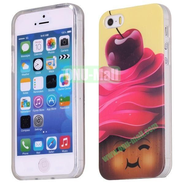 Cute Apple Bear Pattern Design TPU Case for iPhone 5S  5