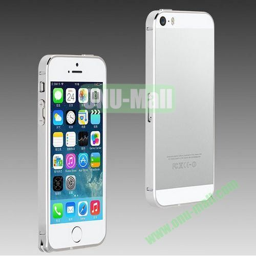 High Quality Fashion Metal Frame Bumper Case for iPhone 5S  5 (Silver)