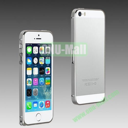 High Quality Fashion Metal Frame Bumper Case for iPhone 5S  5 (Grey)