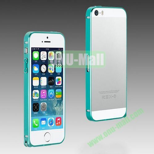 High Quality Fashion Metal Frame Bumper Case for iPhone 5S  5 (Light Blue)