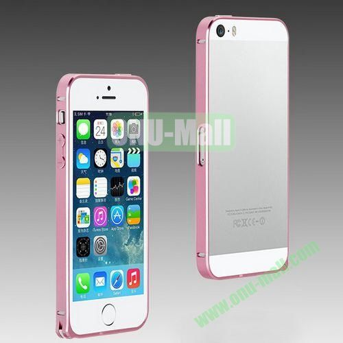 High Quality Fashion Metal Frame Bumper Case for iPhone 5S  5 (Pink)