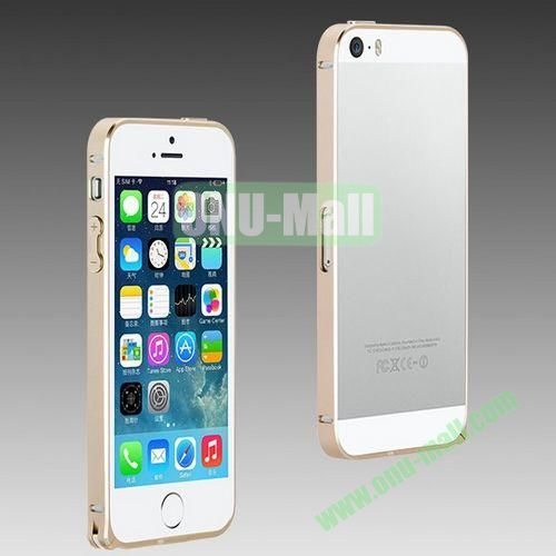 High Quality Fashion Metal Frame Bumper Case for iPhone 5S  5 (Gold)