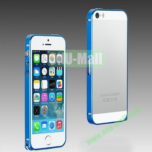 High Quality Fashion Metal Frame Bumper Case for iPhone 5S  5 (Blue)