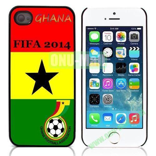 2014 FIFA World Cup Pattern Design Aluminium Coated Hard Case for iPhone 5S  5 (Ghana Football Association)