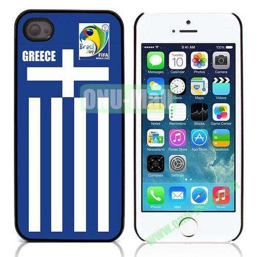 2014 FIFA World Cup Pattern Design Aluminium Coated Hard Case for iPhone 5S  5 (Greece)