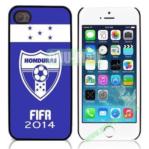 2014 FIFA World Cup Pattern Design Aluminium Coated Hard Case for iPhone 5S  5 (Honduras)