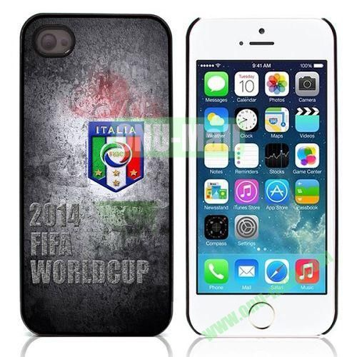 2014 FIFA World Cup Pattern Design Aluminium Coated Hard Case for iPhone 5S  5 (Italia)