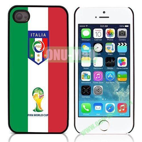 2014 FIFA World Cup Pattern Design Aluminium Coated Hard Case for iPhone 5S  5 (Italia)