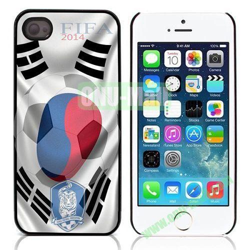 2014 FIFA World Cup Pattern Design Aluminium Coated Hard Case for iPhone 5S  5 (KFA)