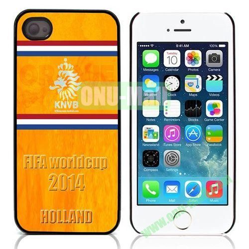 2014 FIFA World Cup Pattern Design Aluminium Coated Hard Case for iPhone 5S  5 (Knvb)