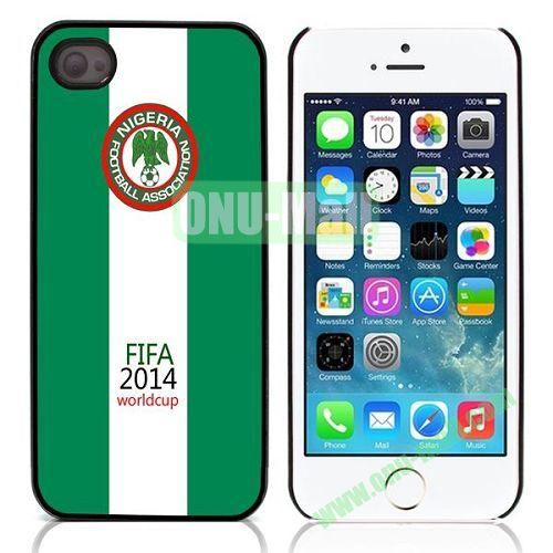 2014 FIFA World Cup Pattern Design Aluminium Coated Hard Case for iPhone 5S  5 (Nigeria)