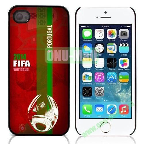 2014 FIFA World Cup Pattern Design Aluminium Coated Hard Case for iPhone 5S  5 (Portugal)