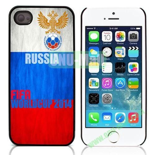 2014 FIFA World Cup Pattern Design Aluminium Coated Hard Case for iPhone 5S  5 (Russia)