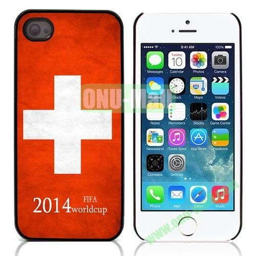2014 FIFA World Cup Pattern Design Aluminium Coated Hard Case for iPhone 5S  5