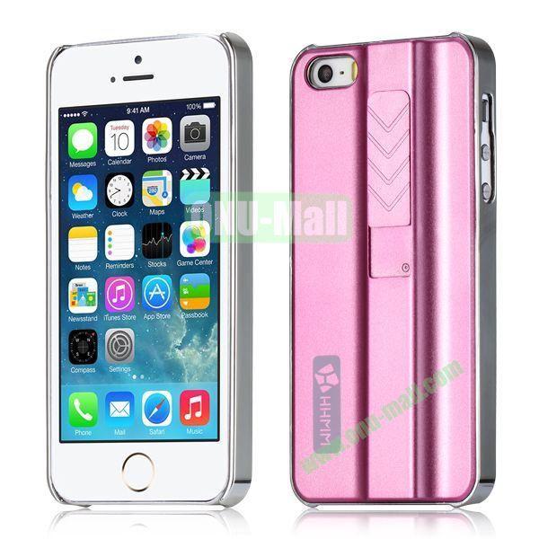 HHMM Cigarette Lighter Plating Hard Case for iPhone 5 5S (Pink)