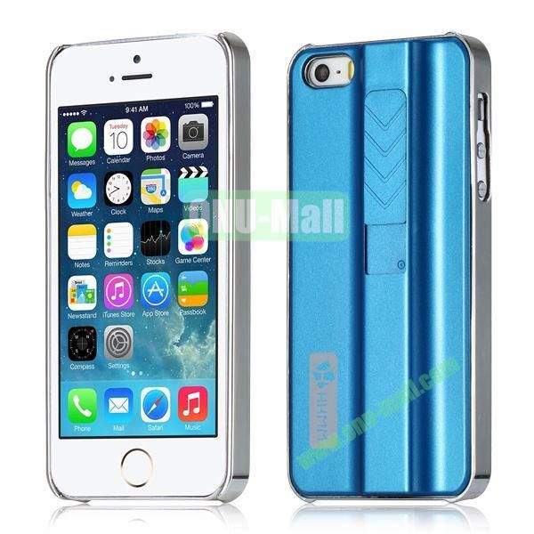 HHMM Cigarette Lighter Plating Hard Case for iPhone 5 5S (Blue)
