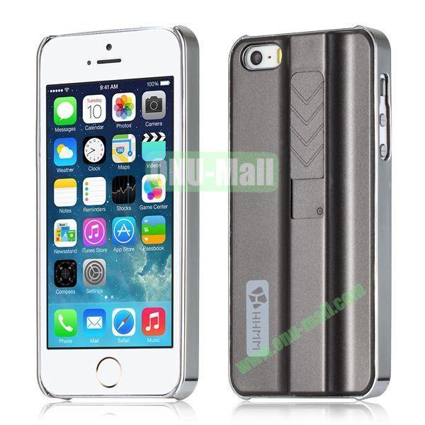 HHMM Cigarette Lighter Plating Hard Case for iPhone 5 5S (Gray)