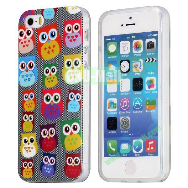 Extraordinary Design Soft TPU Case for iPhone 5 5S (Cute Owls)